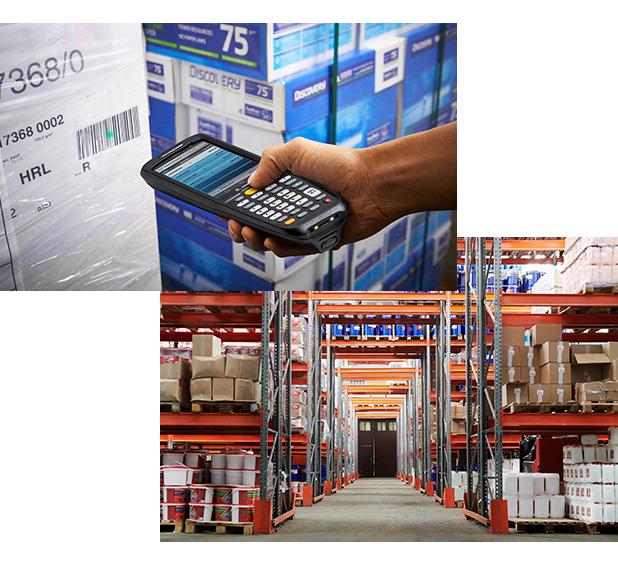 skanowanie terminalem mobilnym etykiety z opakowania zbiorczego